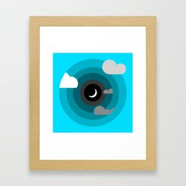Into the clouds Framed Art Print