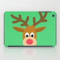 reindeer iPad Cases featuring reindeer by elvia montemayor