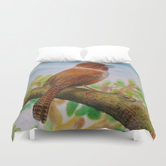 A Brown Bird Duvet Cover