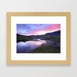 Sunset at Kungsleden Framed Art Print