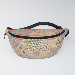 TRIANGLES DOTS LEAVES PATTERN-2 Fanny Pack