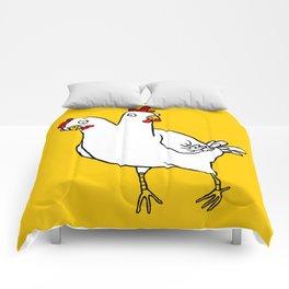 Chicken Dos Cabezas Comforters