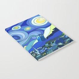 Tardis Art Starry Night Notebook