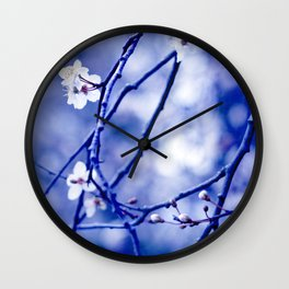 pale indigo Wall Clock