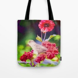 Bird Peace Garden Tote Bag