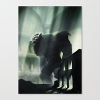 shadow of the colossus Canvas Prints featuring Barba the Colossus by onez