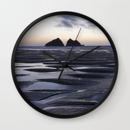 Gull Rock, Holywell Bay, Cornwall, England, United Kingdom Wall Clock