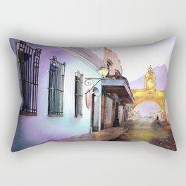 Arch of Santa Catalina in the city of Antigua, Guatemala Rectangular Pillow