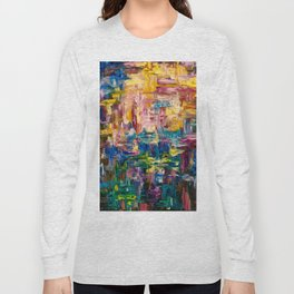 Abstract - Colorful World by Lena Owens Long Sleeve T-shirt