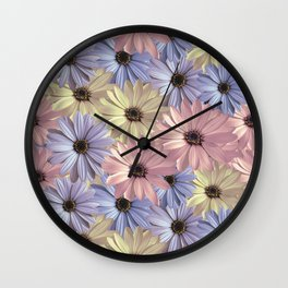 Pink Yellow Blue Wall Clock