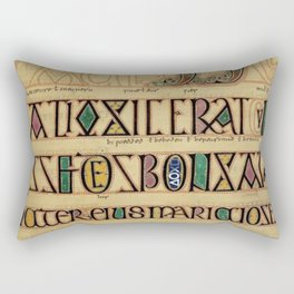 Illustrated Manuscript Rectangular Pillow
