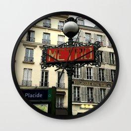 Metro sign of Paris Wall Clock