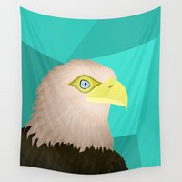 eagle Wall Tapestries featuring Eagle by Nir P