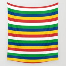 Seychelles flag stripes Wall Tapestry