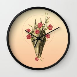 Switch of Celebration - Skull and Flowers Wall Clock