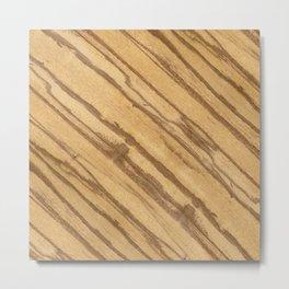 Divida Wood Metal Print