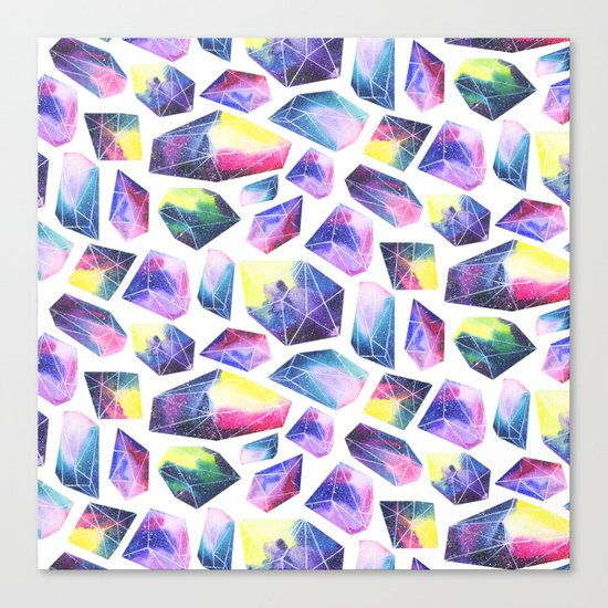 Space crystals Canvas Print