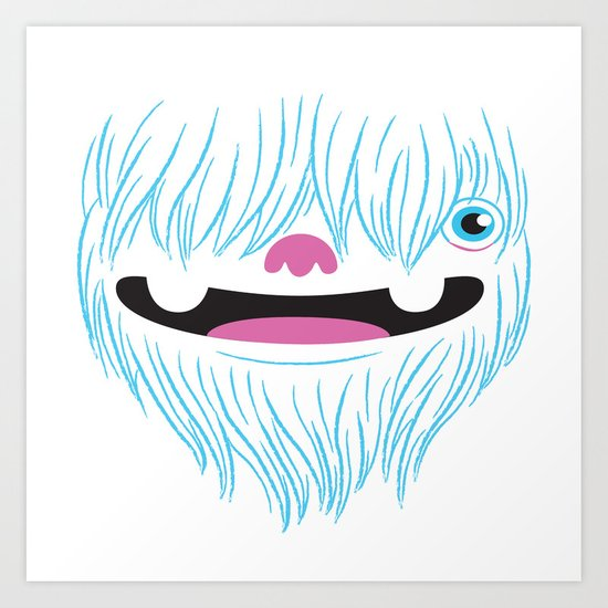 Happy Yeti Art Print