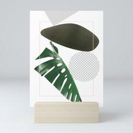 'rhythm' geometric abstract minimalism pattern art Mini Art Print