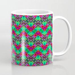 Stitched Vibrant Zigzags Coffee Mug