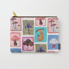 Candy Colored Mushrooms  Carry-All Pouch