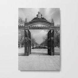 Parque de Madrid entrance BW Metal Print