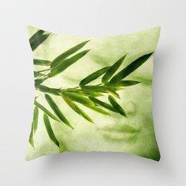 green bamboo Throw Pillow