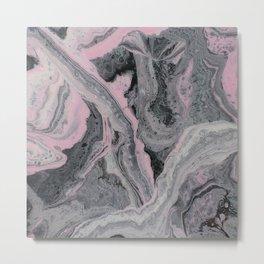 Pink Gravel Metal Print