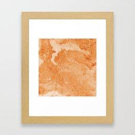 Brown & Beige Marble Framed Art Print