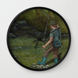 Fisherman's Paradise Wall Clock