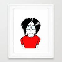 jack white Framed Art Prints featuring Jack White by ArtByJonas