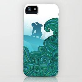 Surfer Dude Hangin Ten iPhone Case