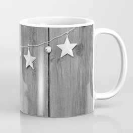 Stars on Wood (Black and White) Coffee Mug