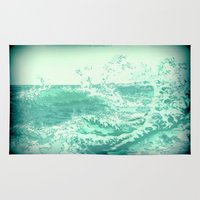 wave Area & Throw Rugs featuring wave by Alexandr-Az