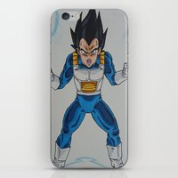 vegeta iPhone & iPod Skins featuring Prince Vegeta by bmeow