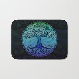 Tree of Life - Cool Blue Bath Mat