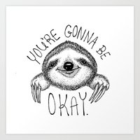 Slothspiration Art Print