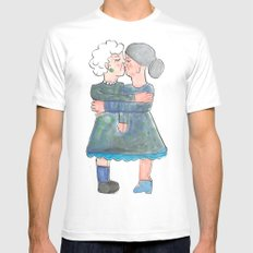 My grandma's are lesbians Mens Fitted Tee MEDIUM White