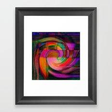 Psychedelic Swirl Framed Art Print