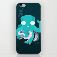 kraken iPhone & iPod Skins featuring Kraken by Damien Mason