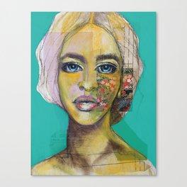 Bea Turquoise Canvas Print