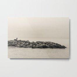 Fisherman & Seagull Metal Print