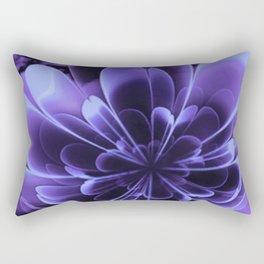 Abstract Blue Flower Rectangular Pillow