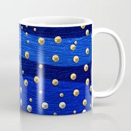 Metallic Blue Background with Shiny Dots Coffee Mug