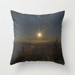 Sunset in the Smokeys Throw Pillow