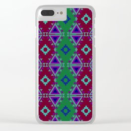 Indian Designs 64 Clear iPhone Case