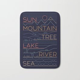 Sun, Mountain, Tree Bath Mat