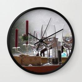 Christmas Table Wall Clock