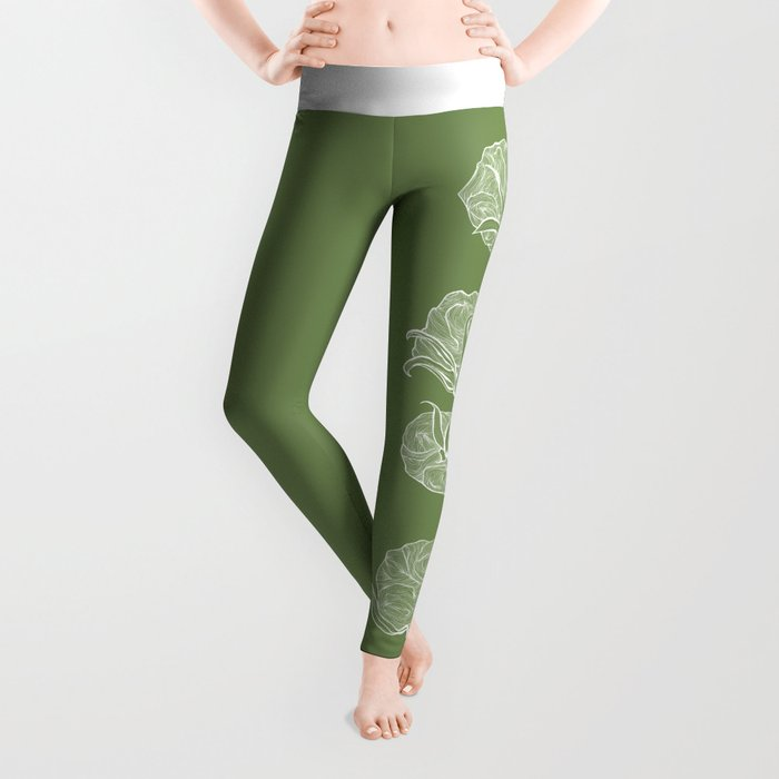 Cotton in Green Leggings