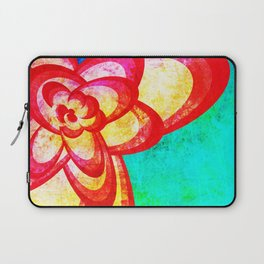 Red Abstract Flower Laptop Sleeve